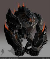 Obsidian Golem by Canada-Guy-Eh