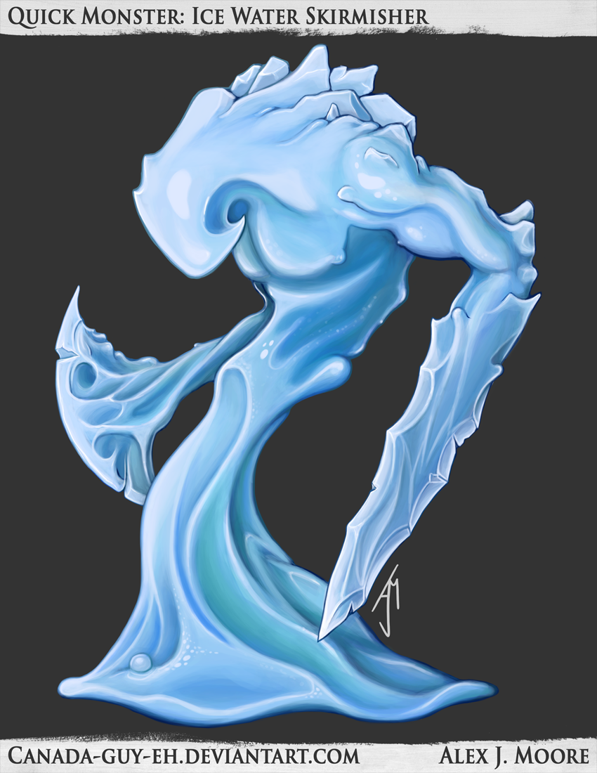 Quick Monster: Ice Water Skirmisher by Canada-Guy-Eh on DeviantArt