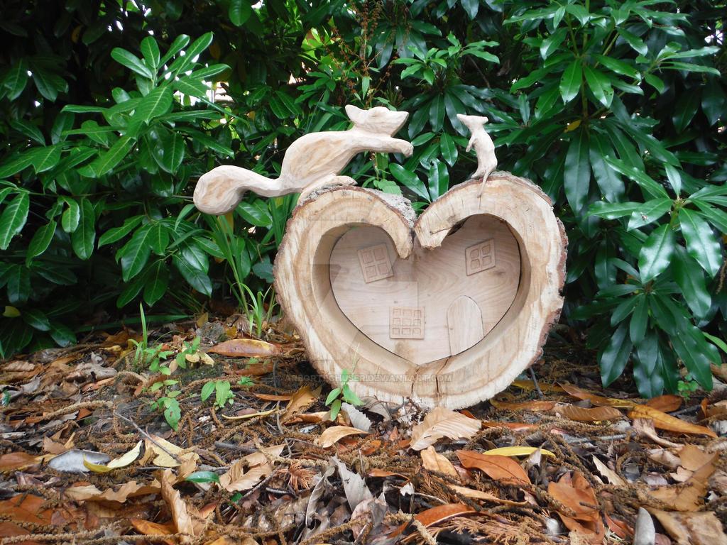 Oak Fairy house. Work in progress by arbortechuser