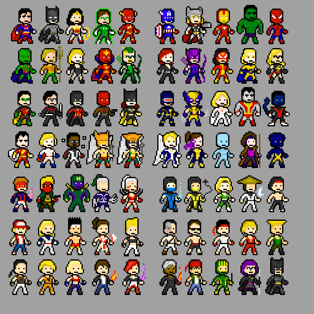 Pixel Characters Viewing Gallery