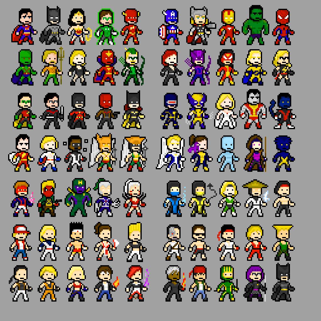 Character Design Pixel Art : Pixel characters by govem on deviantart