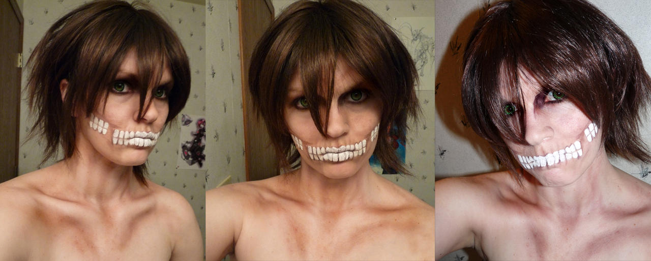 Attack on Titan -Titan Form Make up by Adnarimification