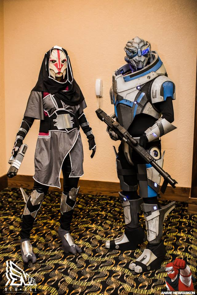 Two Tough Turians by Adnarimification