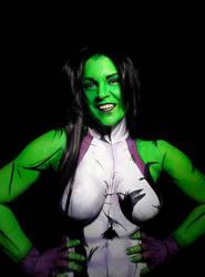 She-Hulk Bodypaint by Adnarimification