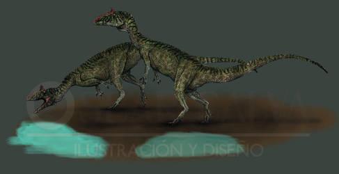Cryolophosaurus ellioti by OscarCalva