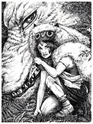 Mononoke-Hime by Idolum