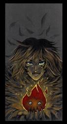 Flaming heart by Idolum