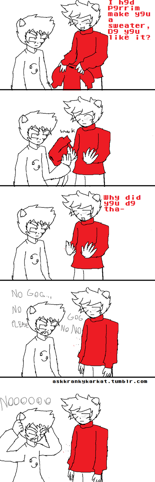 Karkat kankri and the sweater of doom by theclosetstalker on