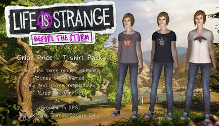 Before The Storm - Chloe Price T-shirt Pack