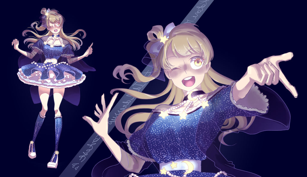 Kotori's starry dress - Contest entry by lyoxsiis