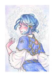 Tea Time (watercolor)