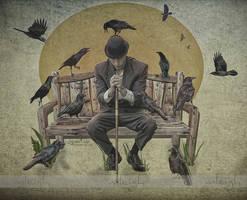 Crow by MLeighS-DigitalArt