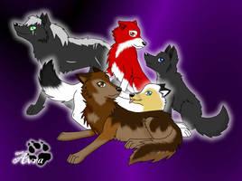 Howl18s wolves by xXEternitysAngelXx