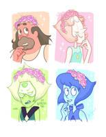 Flower Crown Squad by Kris-Goat