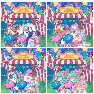 Visitors at the Konpeito Cotton Candy Booth v2