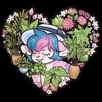 Goat Princess and plants