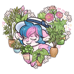 Goat Princess and plants by Kris-Goat
