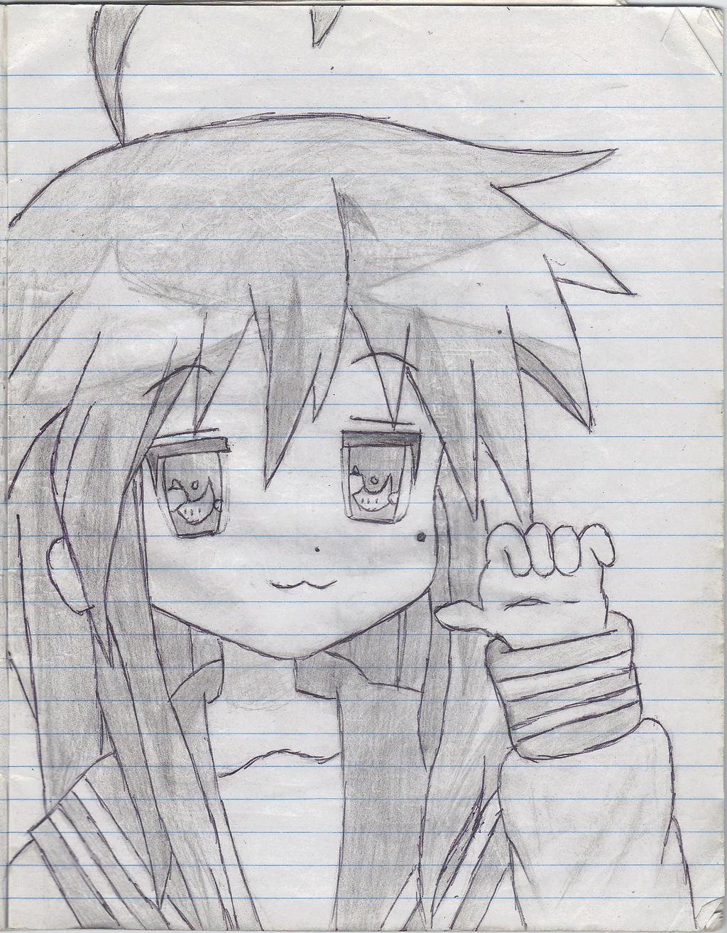 Izumi Konata (Sketch) by JinxDrawings