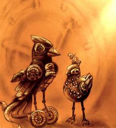 Steampunk Birds by KeanSeason