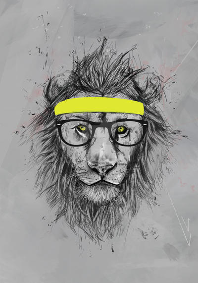 Lion hipster - photo#31
