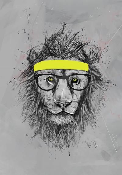 Hipster Lion Background