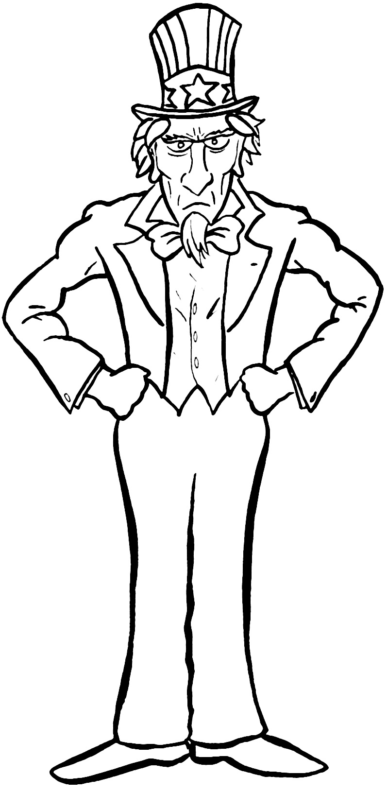 Uncle sam coloring sheet by idoenjoyarting on deviantart for Uncle coloring pages