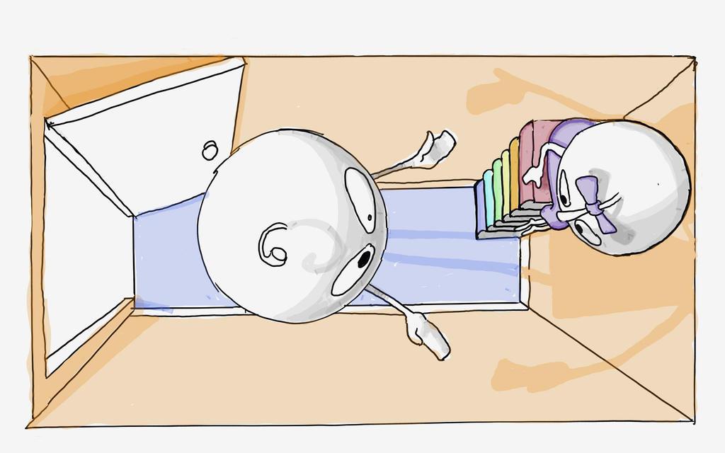 hiding by LaraBubblegirl