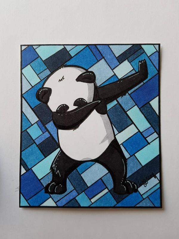 dabbin panda  by TheLucifer10