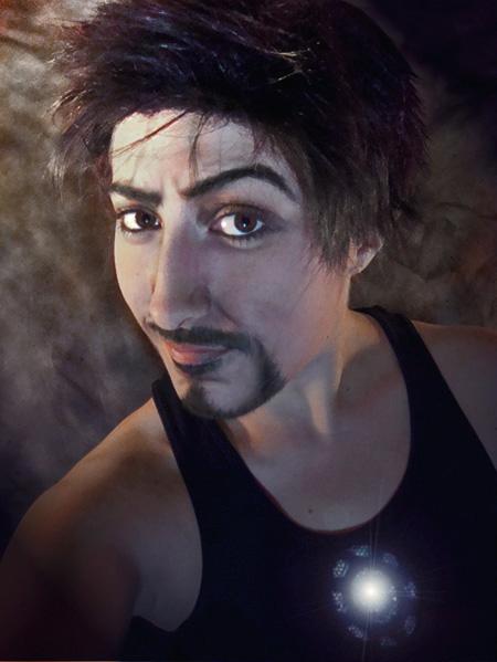 Tony Stark (Iron Man)- Truth is? I am Iron Man. by four-leaf-charm