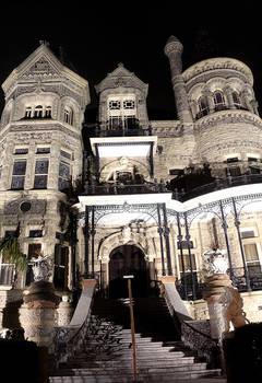 Galveston Historic Mansion at Night