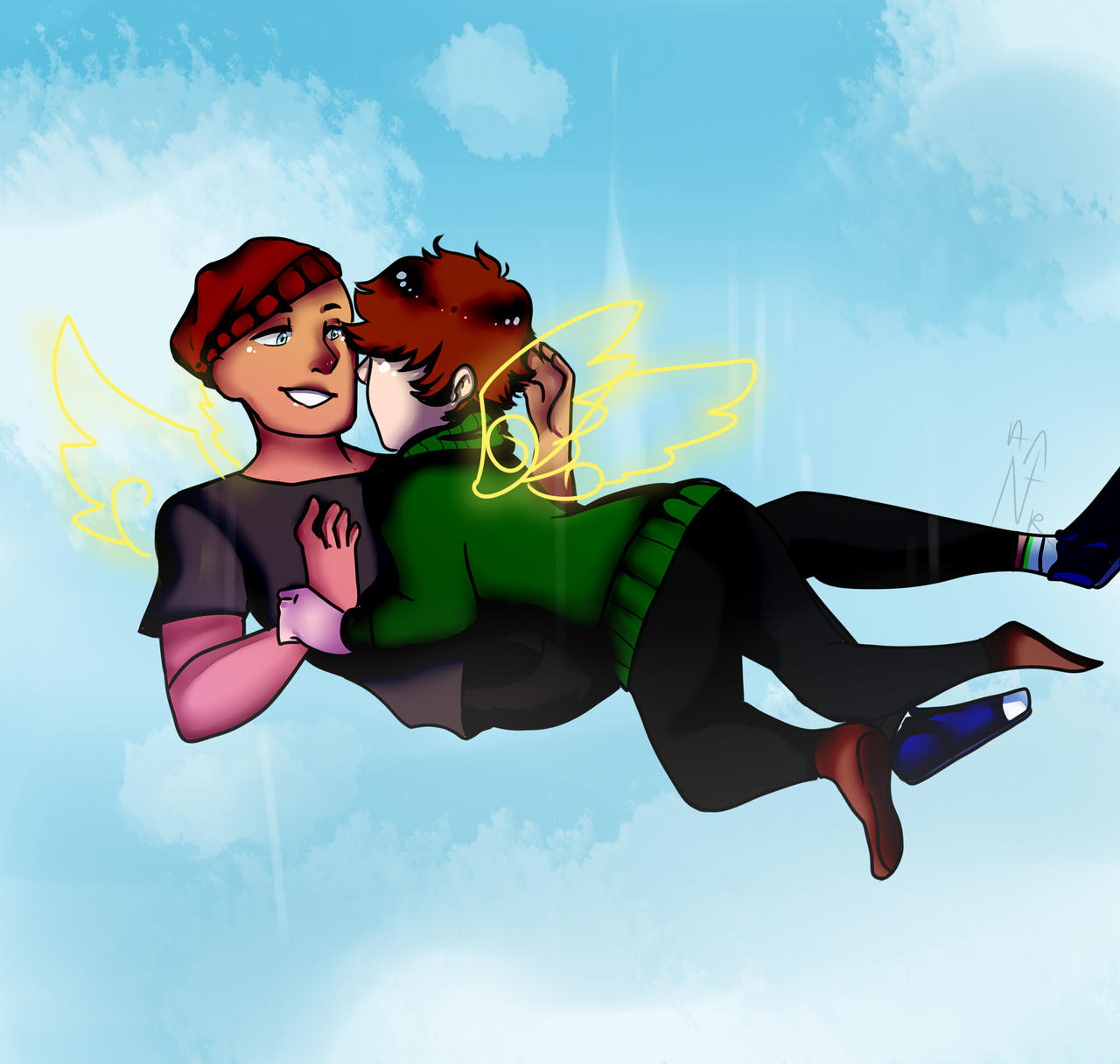 floating Jeremike by burningblazecat