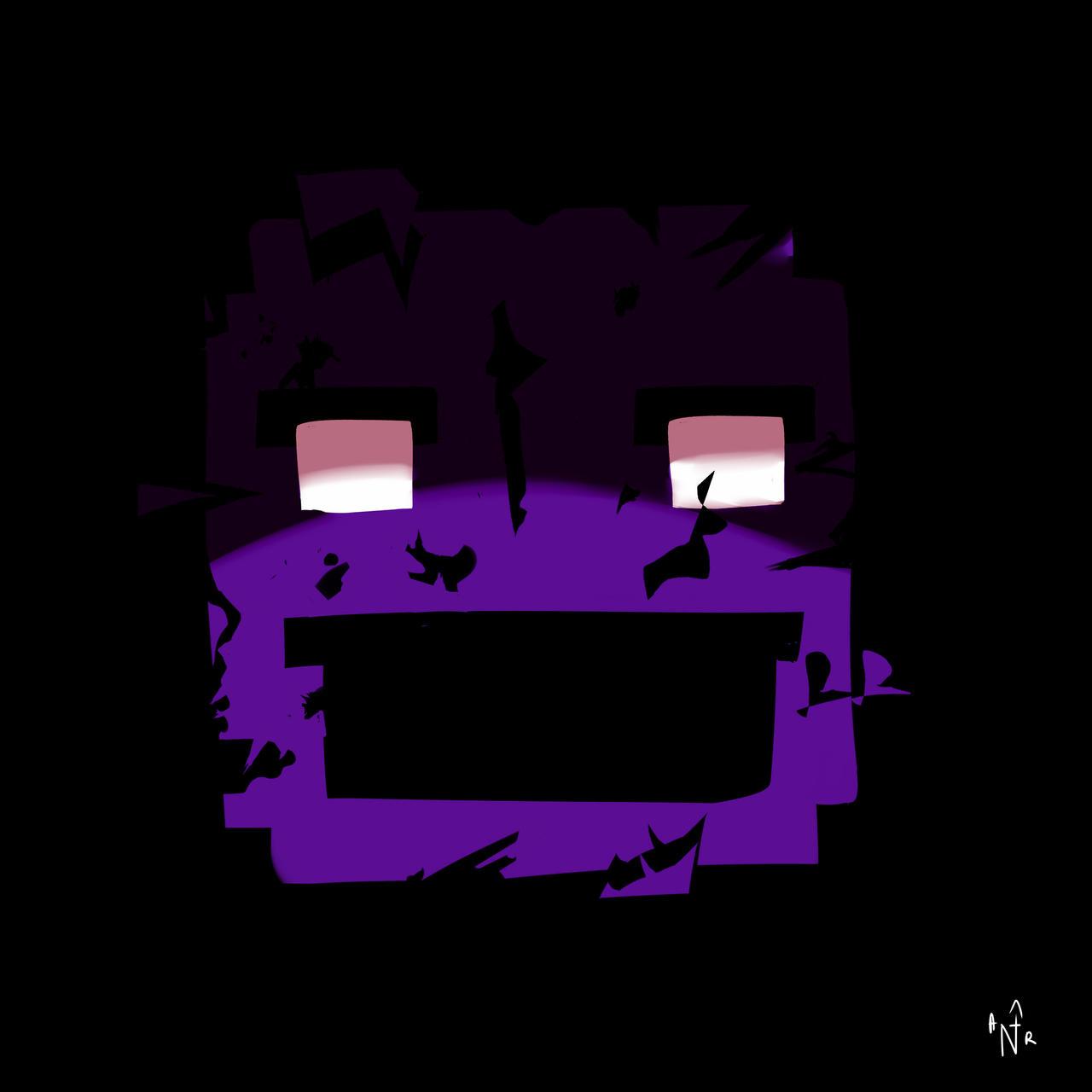Shattered Purple Guy by burningblazecat