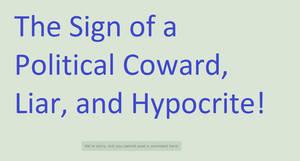 Political Cowardice