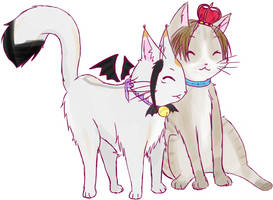 *nuzzle* Hime Kitty and Prince Kitty!