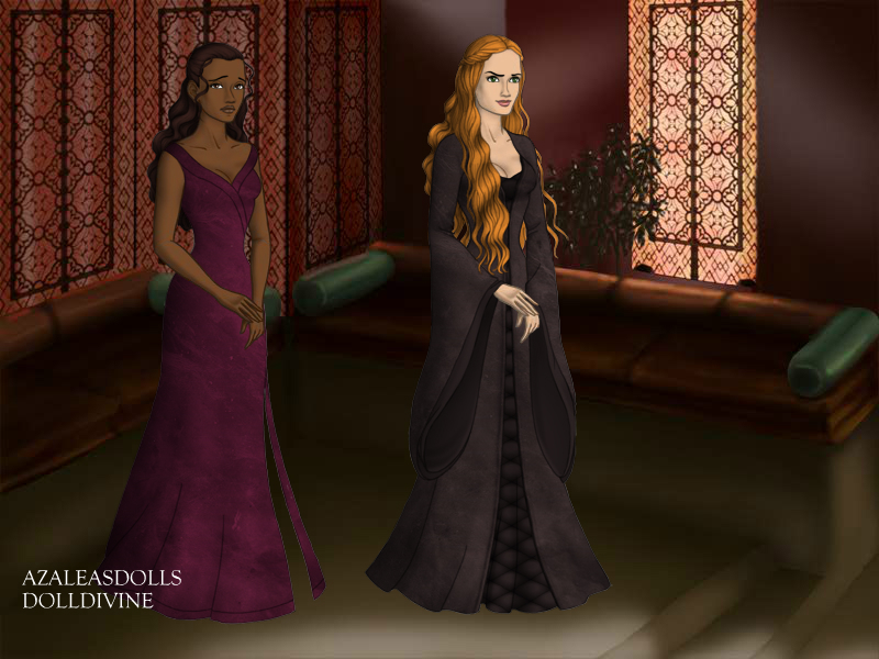 Queen Cersei and Lady Taena by TLKFANKING
