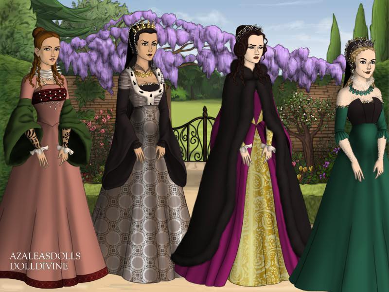 wives of Philip II of Spain by TLKFANKING