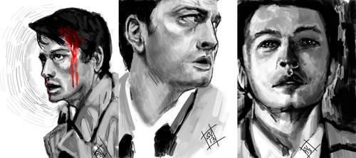 Tegaki E - Castiel Sketch Study