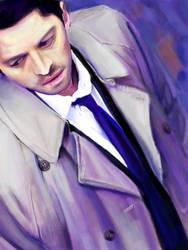 Tegaki E - Castiel Study in Purple