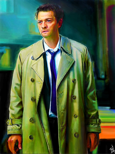 Tegaki E - Castiel Cool Color Study by Sukautto