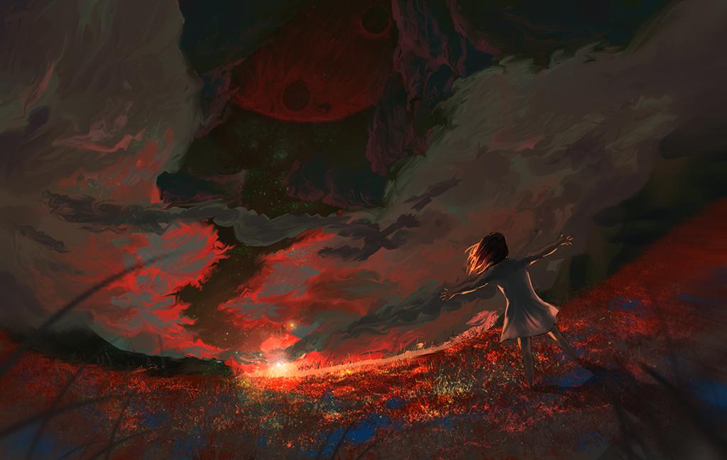 Somewhere else's dawn by amidarosa