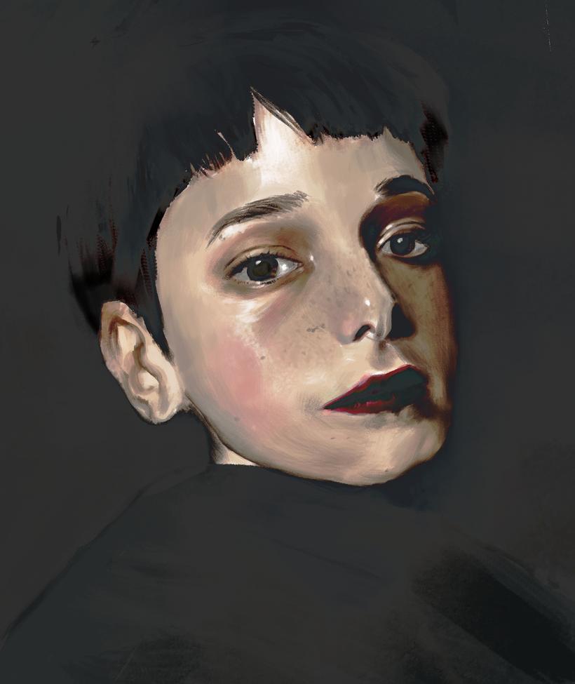 Portrait Practice Cecilia Mendez by amidarosa