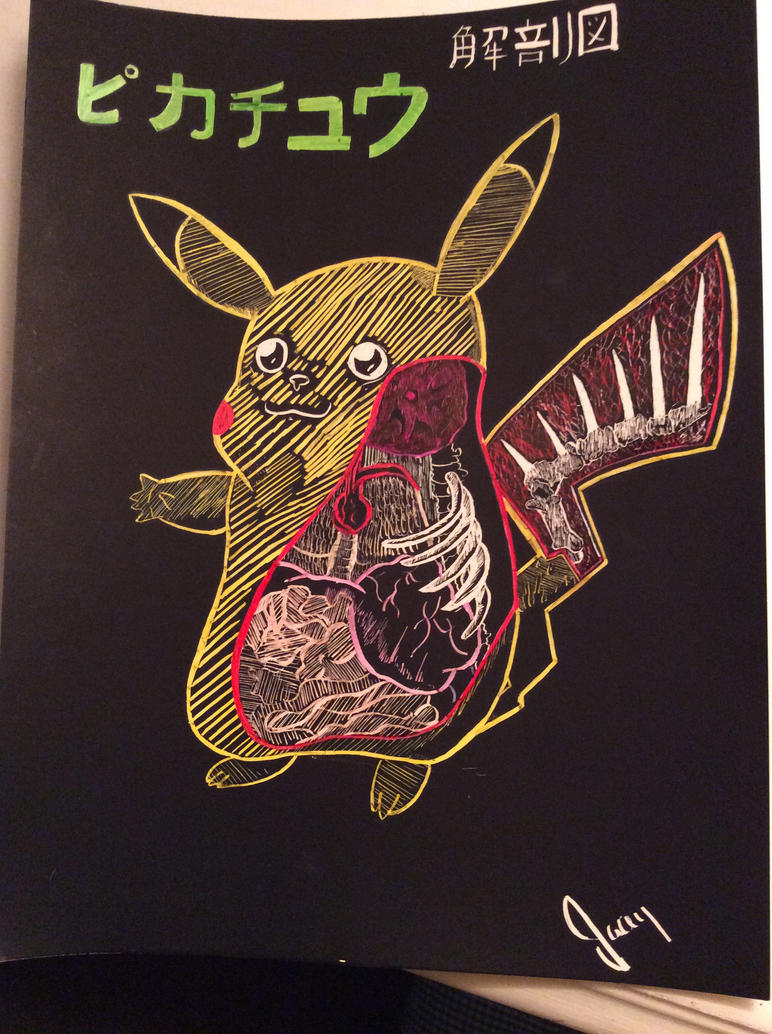 Anatomy of a Pikachu Scratch Art (Not my design) by Paper-Snowflakes ...