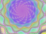 rainbow spiral stock