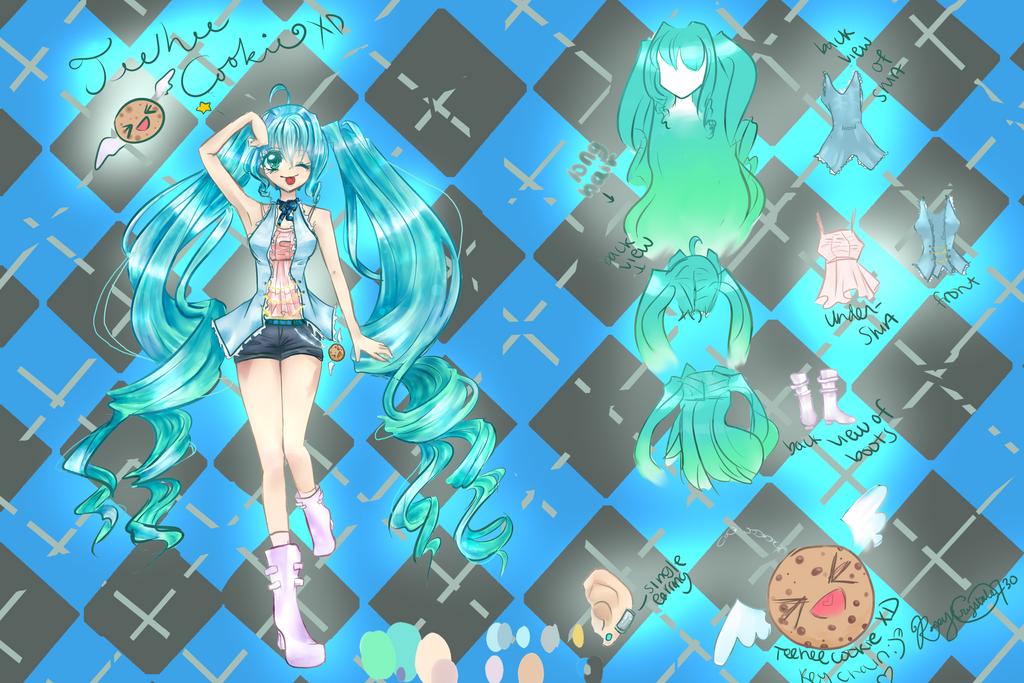 Introducing TeeheecookieXD: OC Character Ref by roseycrystals730