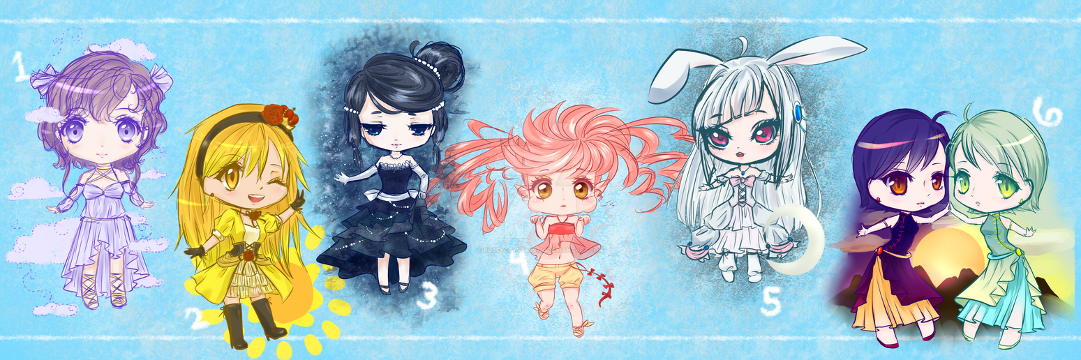 Sky Element Adoptables  CLOSED by roseycrystals730