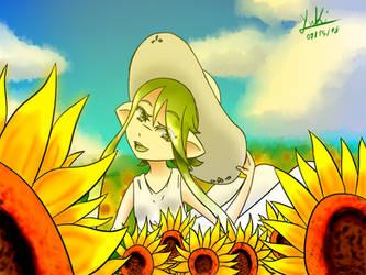 Sunflower Field by YukiMatt