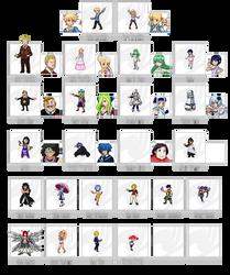 Fairy Tail - Characters by CalipsOnira