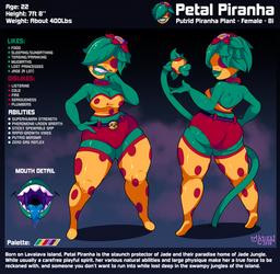 Petal Piranha (OC Reference Sheet) by ImaDeeJ