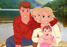 A Family Portrait by The Lake by nikkibelle18