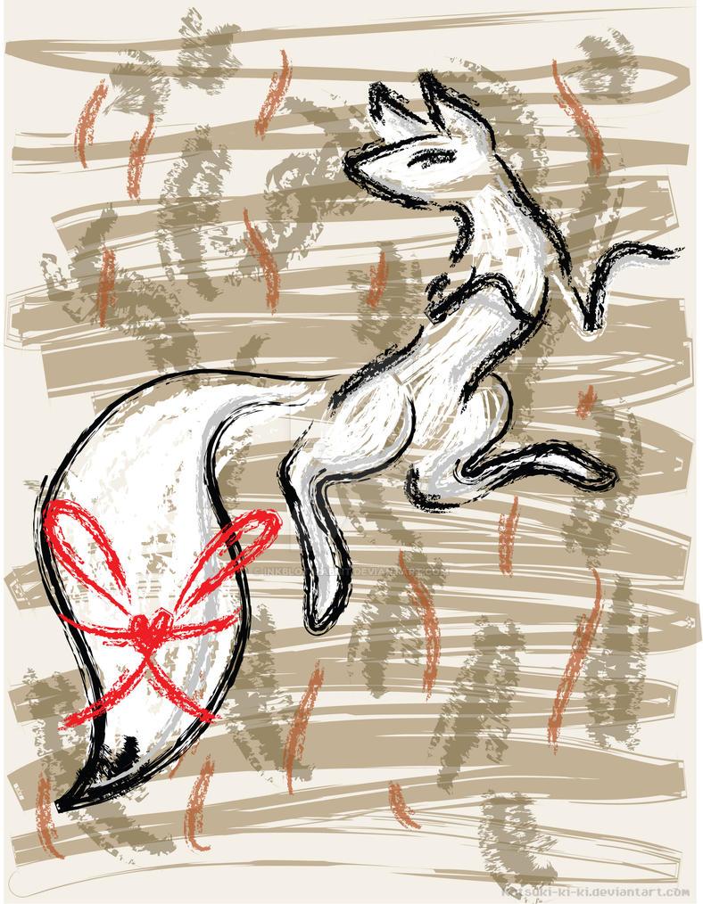 Inari in the Autumn by Inkblot-Rabbit